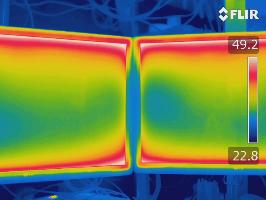 Monitore, Wärmestrahlungverteilung